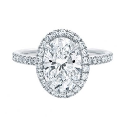 Michel Germani's Oval Halo Diamond Engagement Rings Sydney - Michel Germani
