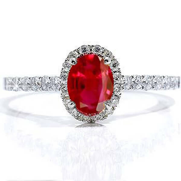 Oval Shape Natural Ruby Ring - Germani Jewellery