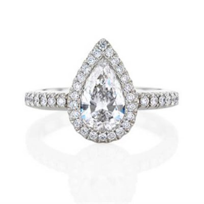 Michel Germani's Pear Shape Halo Diamond Engagement rings sydney - Germani Jewellery