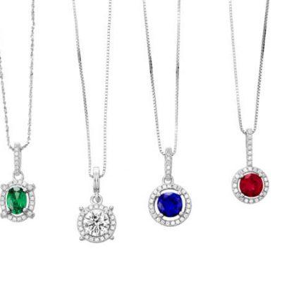 Halo Design Diamond Pendants - Germani Jewellery