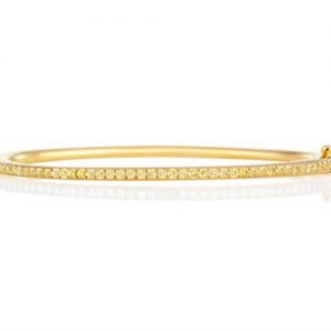 Michel Germani's yellow diamond bangle - Germani Jewellery