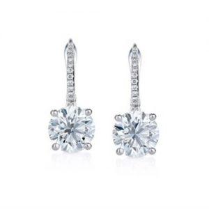 Classic Round Diamond Earrings - Germani Jewellery