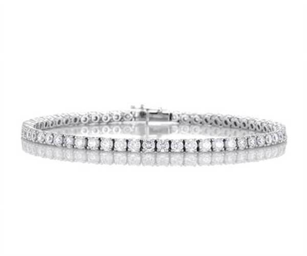 Michel Germani's classic round diamonds bracelet - Germani Jewellery