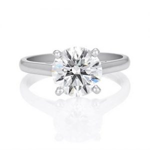 Michel Germani's round diamond engagement ring - Germani Jewellery