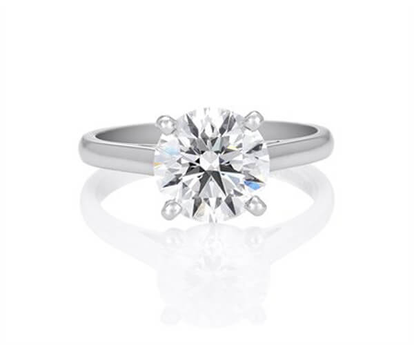 Michel Germani's round diamond engagement ring - Germani Jewellery