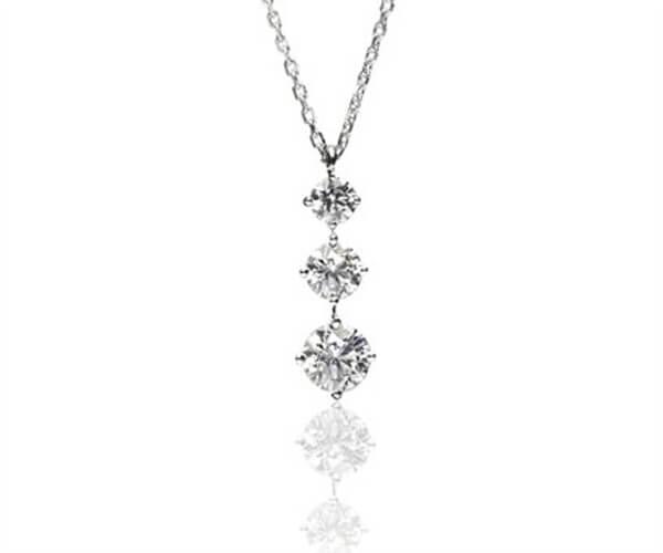 Three Diamonds Pendant - Germani Jewellery