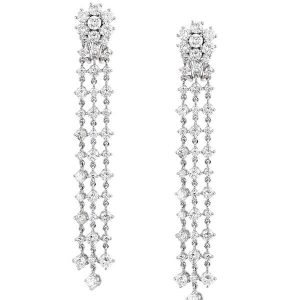 Classic Wedding Dress Diamond Earrings - Germani Jewellery