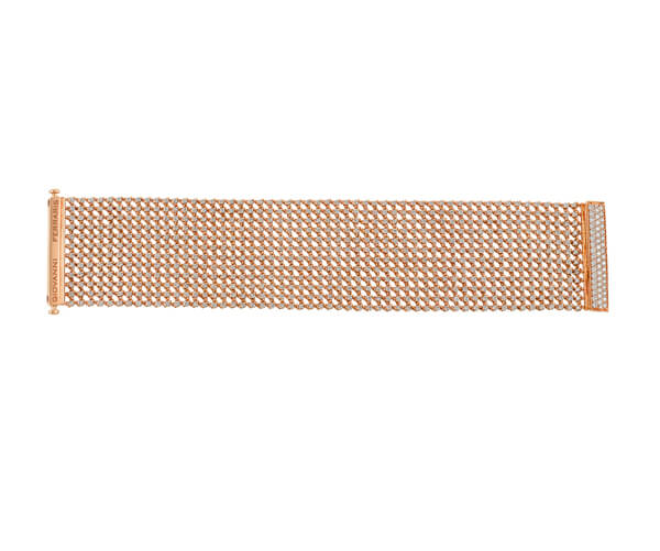 Michel Germani's rose gold bracelet with diamonds - Germani Jewellery
