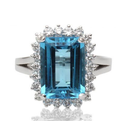 Emerald Cut Natural Blue Topaz - Germani Jewellery