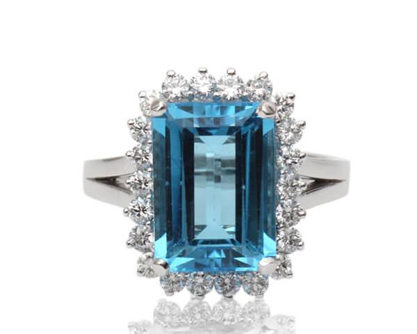 Emerald Cut Natural Blue Topaz - Germani Jewellery