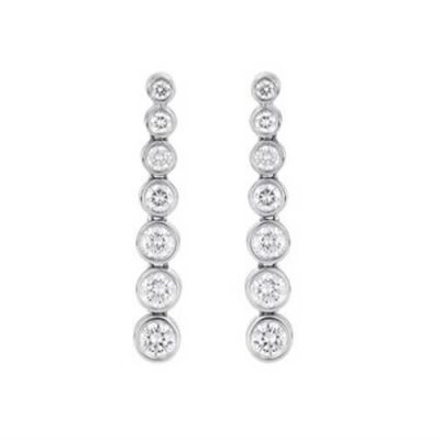 Eternity Drop Diamond Earrings - Germani Jewellery