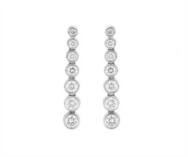 Eternity Drop Diamond Earrings - Germani Jewellery