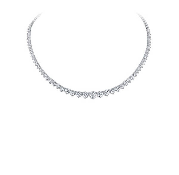 Eternity Diamond Necklace - Round Brilliant cut - Germani Jewellery