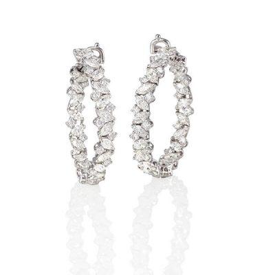 Eternity Marquise Diamond Earrings - Germani Jewellery