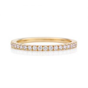 Eternity diamond ring with 18K Yellow Gold - Germani Jewellery