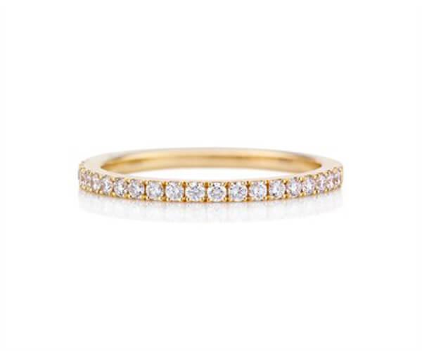 Eternity diamond ring with 18K Yellow Gold - Germani Jewellery