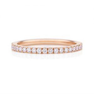 Rose Gold Diamond Wedding Band for ladies - Germani Jewellery