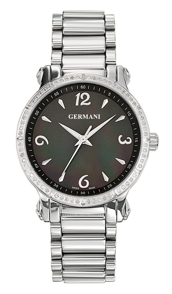 Black faced diamond ladies watch - Germani Jewellery