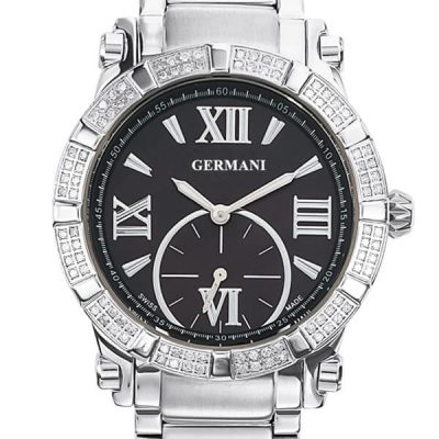 Diamond Quartz Black Face Men's Watches - Germani Jewellery