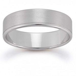 White Gold Men's Wedding Band - Germani Jewellery