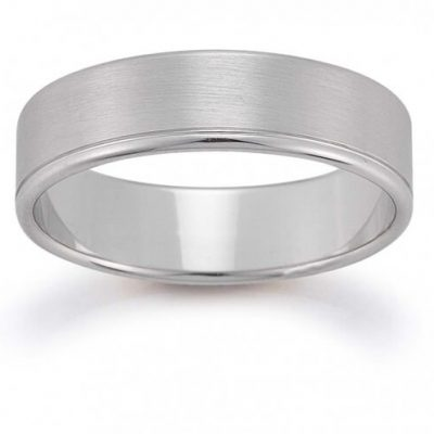 White Gold Men's Wedding Band - Germani Jewellery