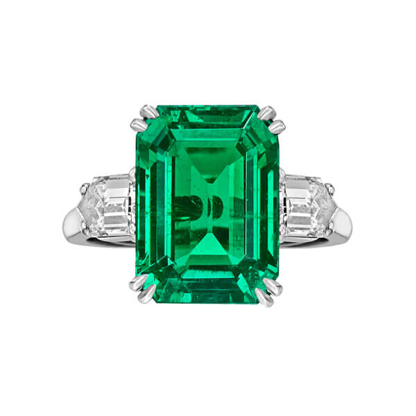 Natural Emerald Baguette Ring - Germani Jewellery