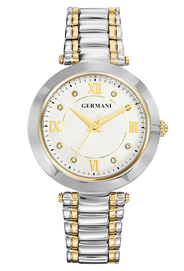 Two tone gold plated ladies watch -Germani Jewellery