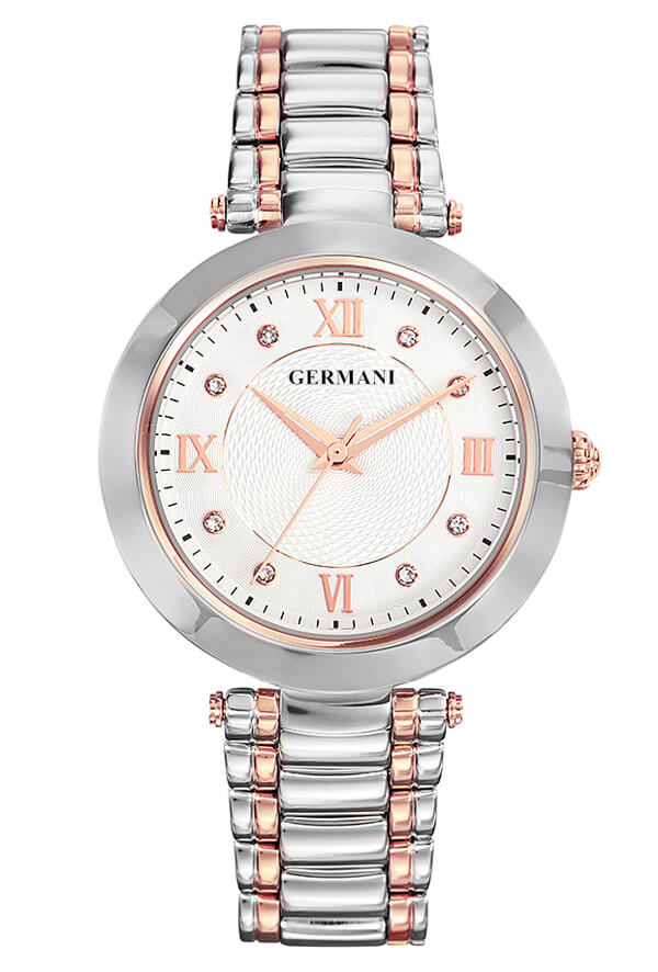 two tone rose gold plated watch - Germani Jewellery