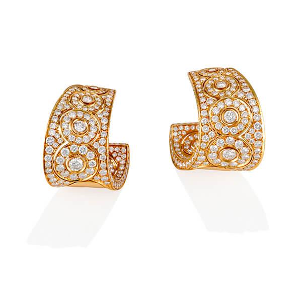 Luxury Yellow Gold Diamond Earrings - Germani Jewellery