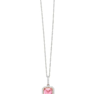 Cushion Cut Pink Diamond Pendant - Germani Jewellery