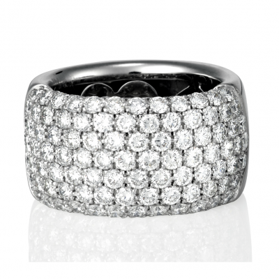 Pasquale Bruni Wide Pave Ring - Germani Jewellery