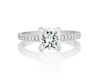 Solitaire Princess Cut Diamond Engagement Ring - Germani Jewellery